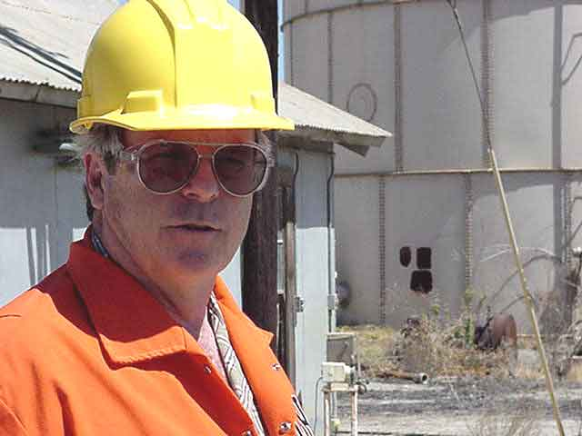 Photograph of Dan Napier at a Refinery Demolition Site